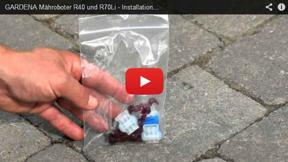 gardena m hroboter r40li r70li installation video teil 2 fachhandel b rger motorger te. Black Bedroom Furniture Sets. Home Design Ideas