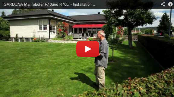 gardena m hroboter r40li r70li installation video teil 5 platzieren der ladestation. Black Bedroom Furniture Sets. Home Design Ideas