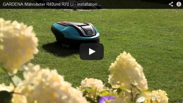 gardena m hroboter r40li r70li installation video teil 4. Black Bedroom Furniture Sets. Home Design Ideas